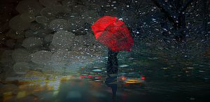 strong rains and hail in the city by Claudia Dea