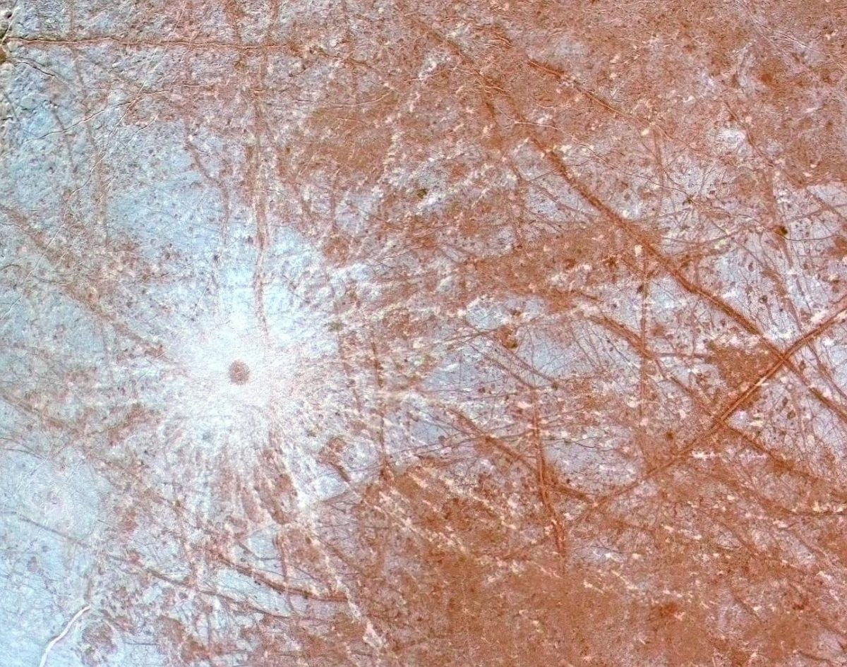 Pwyll Crater on Europa