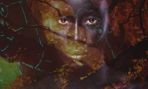 Replanting the Garden - Black woman fading in from apocalyptic garden